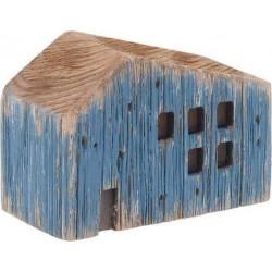 Σπιτάκι ξύλινο natural/μπλε  10χ5χ8 INART 4-70-727-0025