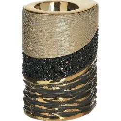 Κηροπήγιο κεραμικό χρυσό/μαύρο  8,5χ6,5χ11  INART 3-70-129-0162