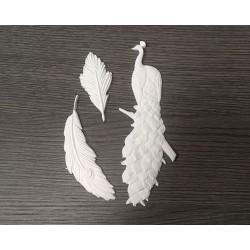 Ελαστικό στοιχείο για διακόσμηση παγώνι σετ/3 Nik-Art EL582