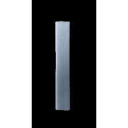 Κερί λαμπάδας πλακέ αρωματικό γκρι ανοιχτό 29,5 εκ 2715