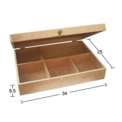 Κουτί MDF για decoupage με χωρίσματα 34,5χ24,5χ9 KU-241