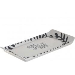 Πιατέλα oρθογώνια κεραμική Sweet Home 29εκ ΙNART  6-60-022-0047