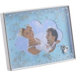 Κορνίζα παιδική μεταλλική γαλάζια/ασημί 10χ15 INART 3-30-056-1776