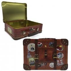 Κουτί μεταλλικό σχέδιο Βαλίτσα 20,7x16x6εκ  JK Home Decoration 000.945