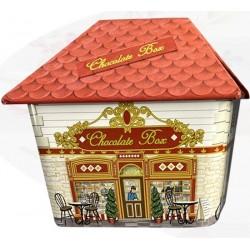 Κουτί μεταλλικό σχέδιο Σπιτάκι Ροζ 11Χ8,5Χ9,5 εκ  JK Home Decoration 001.562