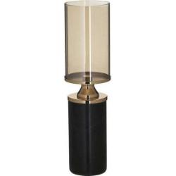 Κηροπήγιο μεταλ/γυάλινο χρυσό/μαύρο Δ7x27 INART 3-70-233-0066