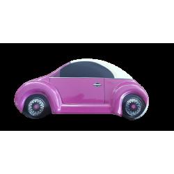 Κουτάκι μεταλλικό αυτοκίνητο μινι φουξια 11,50Χ3,8Χ5 εκ JK Home Decoration 000.782b