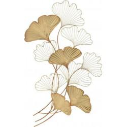 Διακοσμητικό Τοίχου  μεταλλικά φύλλα χρυσά 123χ5χ73  Inart 3-70-120-0033