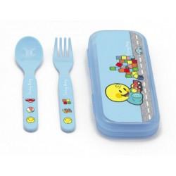 Μαχαιροπήρουνα σετ 2 σε κουτάκι Smiley World Boy ZAK designs  2940831