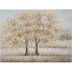 Πίνακας καμβάς δέντρα 120x90cm Inart 3-90-006-0215