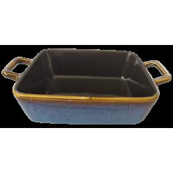 Πυρίμαχο ταψί ατομικό  με χεράκια μπλε κεραμικό 23,50 Χ15Χ5,50 εκ JK Home Decoration 879728Μ