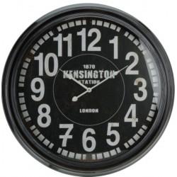 Ρολόι μεταλλικό μαύρο 60εκ JK Home Decoration 627063B