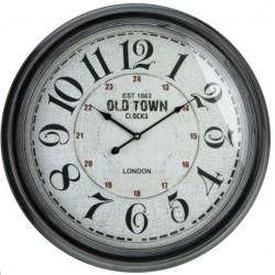 Ρολόι μεταλλικό μαύρο 60εκ JK Home Decoration 627063