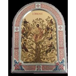 Εικόνα Ασημένια Αμπελος 14,50Χ19,8 Slevori VP00831