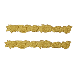 Διακοσμητικό στοιχείο casting  σετ2 τρεσσα τριαντάφυλλα 18,5Χ2  εκ C0085