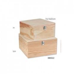 Κουτί ξύλινο για decoupage σετ 2 380022