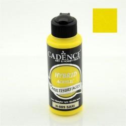 """Χρώμα υβριδικό ακρυλικό 120ml CADENCE """"Yellow"""" H-009"""