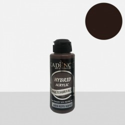"""Χρώμα υβριδικό ακρυλικό 120ml CADENCE """"Dark Brown"""" H-018"""