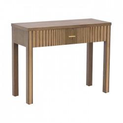 Κονσόλα ξύλινη natural με καθρεφτη 100Χ40Χ80εκ INART 3-50-280-0010