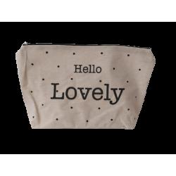 Νεσεσσέρ ύφασμα/μπεζ Hello Lovely 32X19.50 JK Home Collection 289705A