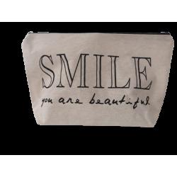 Νεσεσσέρ ύφασμα/μπεζ Smile  32X19.50 JK Home Collection 289705B