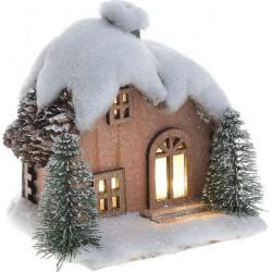 Σπιτάκι ξύλινο χιονισμένο 14χ12χ15 INART 2-70-642-0015