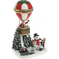Χριστουγεννιάτικη παράσταση αερόστατο με φως 15χ12χ25 INART 2-70-785-0010