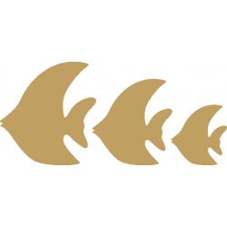 Ψάρια σετ/3 MDF 12εκ - 9 εκ & 7 εκ 3-04-228
