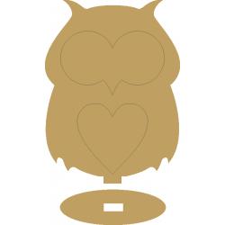 Κουκουβάγια με βάση MDF 15,3Χ20 εκ 3-08-230