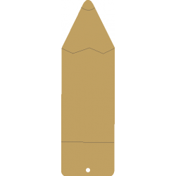 Σελιδοδείκτης μολύβι 5,5 Χ18 εκ  MDF  3-04-231