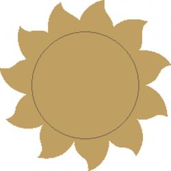 Ήλιος MDF με χάραξη 8Χ8 εκ 3-04-236