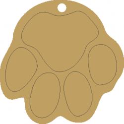 Σουβέρ Σετ/4 με βάση σχέδιο Πατούσα MDF 10X18 εκ με χάραξη  3-08-224