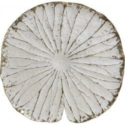 """Διακοσμητικό τοίχου """"φύλλο"""" resin εκρού/χρυσό Δ35χ3 INART 3-70-979-0015"""