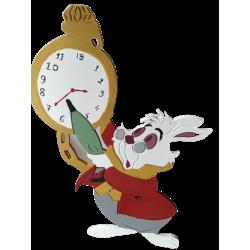 Φιγούρα ξύλινη  κουνέλι με ρολόι mdf 30Χ50 εκ 4-08-233