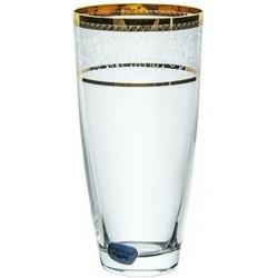 Bohemia Ποτήρι Σωλήνα Elisabeth Κρυστάλλινο gold 350ml 6τμχ