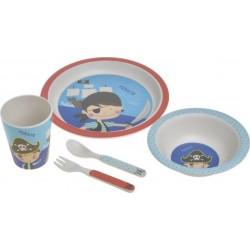 Παιδικό Σετ Φαγητού 5 τεμαχίων Μπαμπού INART 6-60-066-0012