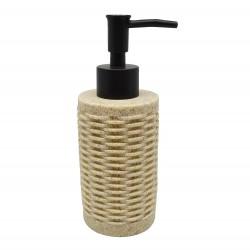 Ντισπένσερ μπάνιου πολυρεζίν μπεζ  6,5x6,5x17εκ.ANKOR 810178