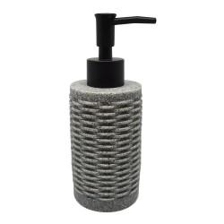 Ντισπένσερ μπάνιου πολυρεζίν γκρι 6,5x6,5x17εκ.ANKOR 810208