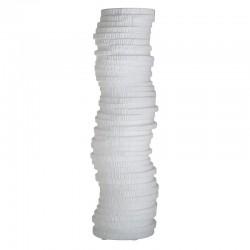 Βάζο κεραμικό λευκό  σαγρέ 16x16x50εκ Inart 3-70-266-0035
