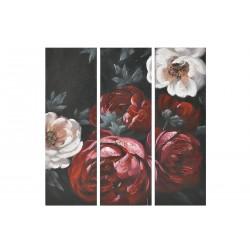 """Πίνακας καμβάς τρίπτυχος """"λουλούδια"""" πολύχρωμο 90χ4χ90 INART 3-90-006-0267"""