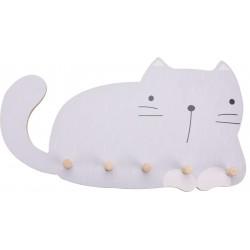 Κρεμάστρα γάτα 5 θέσεων 45,5Χ4,50 Χ 26 JK Home Decoration 263750-1