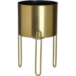 Κασπώ μεταλλικό χρυσό 18x18x18 εκ INART 3-70-307-0019