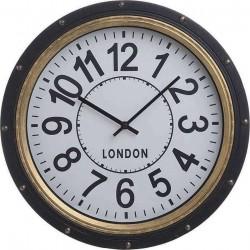 Ρολόι τοίχου χρυσό,μαύρο 40X5X40 Inart  3-20-925-0022