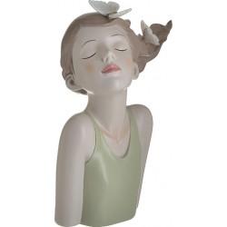 """Φιγούρα resin επιτραπέζια """"Κορίτσι με πεταλούδες"""" 20Χ12Χ28 εκ Inart 3-70-287-0066"""