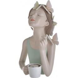 """Φιγούρα resin επιτραπέζια """"Κορίτσι με πεταλούδες"""" 18Χ16Χ27 εκ Inart 3-70-287-0070"""