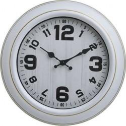 Ρολόι τοίχου πλαστικό λευκό Φ30χ4 INART 3-20-284-0164