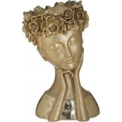 Κασπώ πρόσωπο ρεζίν χρυσό 17χ15χ25 INART 3-70-693-0023