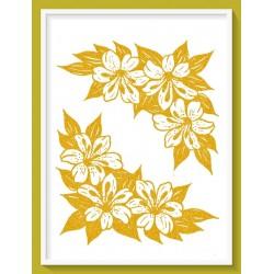 Transfer  glitter  χρυσό 24X16εκ. G43
