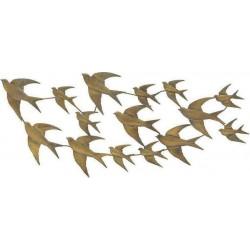 """Διακοσμητικό τοίχου  μεταλ. """"πουλιά"""" χρυσό 115χ2χ50 INART 3-70-120-0041"""