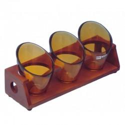 Ορντεβιέρα/Ξηροκαρπιέρα ξύλο/γυαλί 3 θέσεων Karvounis 462